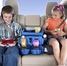 Seat Back Rear Organizer Car Travel Bag Pocket Food Drink Bottle Storage Holder