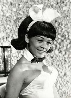 Sharon Risiner The first African American Playboy Bunny in Lake Geneva c. 1970's (via)