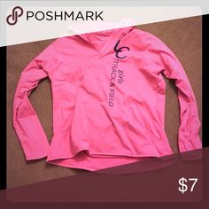 Pink workout top 3/4 zip- not NiKE Long sleeve cottons, no particular brand Nike Jackets & Coats Utility Jackets