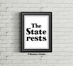 The State Rests - Law School Graduation Gifts - Law School Gifts - Lawyer Gifts - Attorney Gift - Trial - Poster - New Attorney Gifts Standard Poster Size, Law Office Decor, Lawyer Gifts, Georgetown University, School Gifts, Law School, Quote Prints, Graduation Gifts, Criminal Law