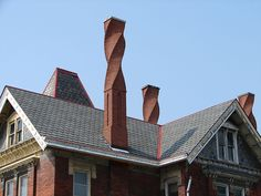 Red Brick Chimney with a twist. / bontool.com