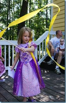 New -- for RecessionHome.com - rapunzel party streamers!!! So excited to make these.