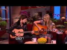 Taylor swift and Zac Efron sing a duet for Ellen on the Ellen DeGeneres show. I thought it was funny especially the part about Ellen hiding in the bathroom with a camera. WTF???  I have sent email to Ellen Degeneres show re permission to show this clip!  Just make sure you check out my other videos. They are all short and most are funny so while...