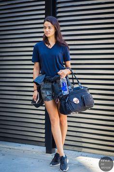 New York Fashion Week SS 2016 Street Style: Shanina Shaik