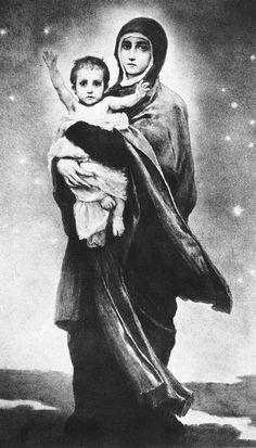 3vasnetsov_bogomater_vladimirLa Virgen de Vladímir, 1887. Obra de Víktor Vasnetsov. Sketch.