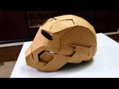 #27: Iron Man Mark 42 Helmet Part 1 - Print & Cut (cardboard, with template) | How To | Dali DIY - YouTube