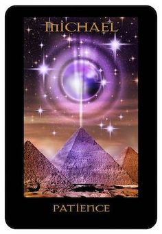 Archangel Michael healing. Interesting it showing an energy beam from a pyramid into space ...