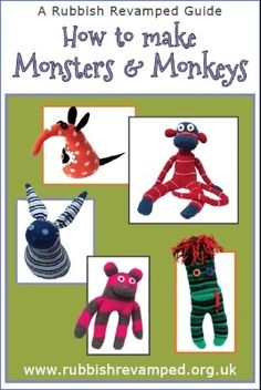 With this easy-to-follow guide, you'll transform your old socks into monsters, monkeys, Mousevaarks (that's the guy with the long snout) and bunnies. When you've run out of socks, dig out a matted old jumper to make Jumper Bear George.  This crafty creature collection is popular with all ages and both genders as well as guide groups and other educators.Fully illustrated with easy to follow step-by-step instructions, this 25 page booklet is suitable for anyone with some old socks ...