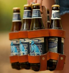 Leather diy - Leather Beer Holder The Spartan Carton Leather and Wood Beer Carrier – Leather diy Leather Gifts, Leather Craft, Handmade Leather, Leather Bags, Leather Totes, Leather Purses, Leather Backpacks, Custom Leather, Leather Handle
