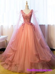 Quinceanera Dresses Vintage Ball Gown V-Neck Appliques Beading Floor-Length Quinceanera Ball Gown Dress MT20187359