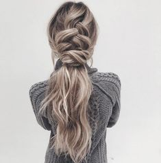 french braid   twist   loose   long hairstyle   highlight   with hair extensions