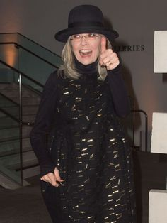 Actress Diane Keaton attends The Hammer Museum Gala in the Garden in Los Angeles, California, on October 10, 2015.   Valerie Macon, AFP/Getty Images