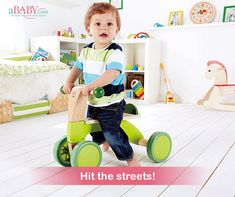 Hape: Scoot-Around Wooden Ride On Tricycle, Hape Toys, Kids Ride On Toys, Wood Bike, Bike Quotes, Push Bikes, Kids Bicycle, Balance Bike, Baby Center