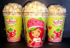 Popcorn Boxes Strawberry Shortcake Birthday by PoshBoxCouture2, $12.00