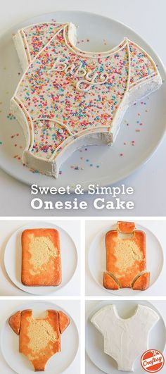 this super cute onsie cake for your baby shower celebration. (easy sweets f., Make this super cute onsie cake for your baby shower celebration. (easy sweets f., Make this super cute onsie cake for your baby shower celebration. (easy sweets f. Baby Cakes, Cupcake Cakes, Diaper Cakes, Party Cupcakes, 3d Cakes, Cupcake Ideas, Baby Shower Pasta, Baby Boy Shower, Food For Baby Shower
