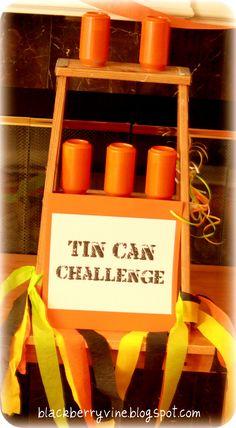 Tin can challenge, Levi's 6th Birthday Nerf Gun Party