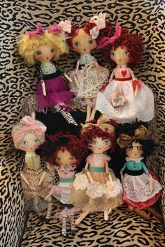 Dolls by Good Grief Girdie (Class given by Danita.  What a Wonderful job!  Love these dolls!
