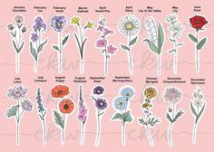 Sweetpea Flower Tattoo, Flower Bouquet Tattoo, Flower Tattoo On Ribs, Birth Flower Tattoos, Sister Tattoos, Friend Tattoos, Hawthorne Flower, Birth Month Symbols, Birthday Tattoo