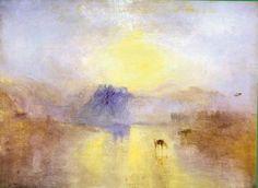 Joseph William Mallord Turner (1775-1851) Le château de Norham au lever du soleil, vers 1845