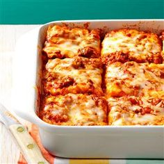 Make Once, Eat Twice Lasagna Recipe from Taste of Home