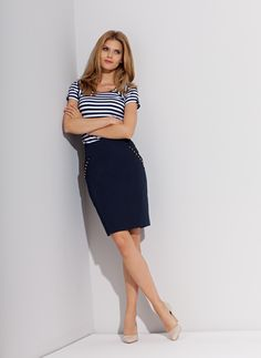 simple skirt and a sailor blouse, they are very original