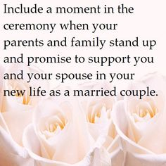 Ceremony ideas - this can be especially written into your wedding ceremony and include words of love, laughter and support for the years to come!