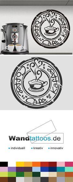 Wandtattoo Button Coffee als Idee zur individuellen Wandgestaltung. Einfach Lieblingsfarbe und Größe auswählen. Weitere kreative Anregungen von Wandtattoos.de hier entdecken!