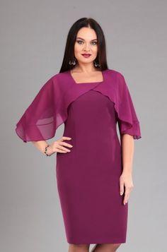 6fbba88e569e Ежевичное платье с шифоновой отделкой – купить в интернет-магазине «L MARKA»   доставка по России