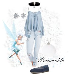 """""""Disneybound Periwinkle"""" by chloe-marie-chapman on Polyvore featuring Charlotte Russe, Disney, Sans Souci, Bling Jewelry and Dr. Scholl's"""