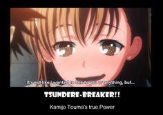 Tsundere Breaker by neogoki on DeviantArt Funny Anime Pics, A Certain Scientific Railgun, A Certain Magical Index, Anime Neko, Tsundere, Talking To You, Aesthetic Anime, Social Community, Haha