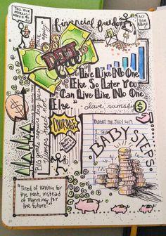 Bullet Journal. Dave Ramsey. Debt Free!