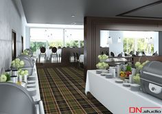 BRISTOL ART & SPA Sanatorium in Busko Zdroj, Poland. Design and Rendering of a restaurant.