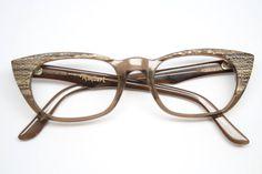 cat eye glasses vintage reptile raybert cateye frames
