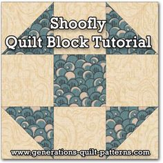 Learn to make a Shoofly quilt block. Instructions included for 5 sizes. One of many blocks in our Free Quilt Block Patterns Library.