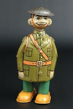 Vintage 1920s Chein Doughboy Tin Wind Up Military Toy | eBay