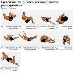 Ejercicios principiantes Pilates, danza, estiramientos, ejercicios de pilates