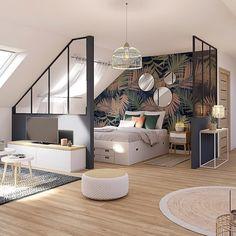 Home Interior, Interior Architecture, Interior Design, Home Bedroom, Bedroom Decor, My Ideal Home, Attic Rooms, Loft Spaces, Living Spaces