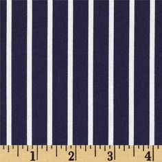 Dear Stella Sea Worthy Pinstripe Navy from @fabricdotcom  Designed by Jack and Lulu for Dear Stella Designs, this fabric is perfect for quilting, apparel and home decor accents. Colors include white and navy.