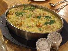 Bacon, Pumpkin & Spinach Risotto by Wendy Farrelly – Recipe of c… Recipe Chicken. Bacon, Pumpkin & Spinach Risotto by Wendy Farrelly – Recipe of category Main dishes – meat Chicken And Pumpkin Risotto, Chicken Risotto, Chicken Bacon, Chicken Recipes, Recipe Chicken, Wrap Recipes, Asian Recipes, Sweet Recipes, Dinner Recipes