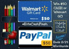 Enter to #win a $50 Walmart Gift Card OR Paypal Cash! Winner's Choice!