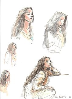 curly haired woman by Glen Keane