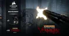 We teamed up with Fatshark, the guys behind the awesome Warhammer Vermintide, for a special giveaway!Enter now for a chance to win a Corsair VOID Wireless gaming headset and a Steam key of this way-to-fun game!