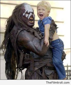 "Lurtz scaring a kid.  Which is your favourite ""The Lord of The Rings"" movie?"