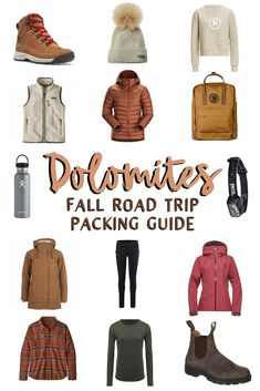 Find out everything you need to know to plan the ULTIMATE fall road trip in the Italian Dolomites! Including a locations map and packing guide. Vacation Packing, Packing Tips For Travel, Travel Guides, Travel Capsule, Fall Capsule, Road Trip Outfit, Best Carry On Luggage, Destinations, Cold Weather Outfits
