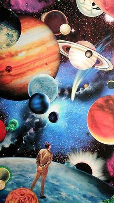 Trippy Art Drawing Universe Ideas For – Galaxy Art Trippy Painting, Galaxy Painting, Galaxy Art, Space Painting, Art Du Collage, Surreal Collage, Surreal Art, Art Inspo, Inspiration Art