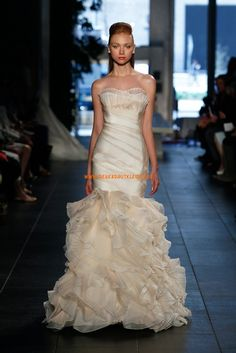 Luxuriöse Asymmetrische Hochzeitskleider aus Organza