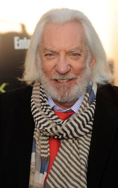 """Donald Sutherland Photos - Actor Donald Sutherland arrives at the premiere of Lionsgate's 'The Hunger Games' at Nokia Theatre L. Live on March 2012 in Los Angeles, California. - Premiere Of Lionsgate's """"The Hunger Games"""" - Arrivals"""
