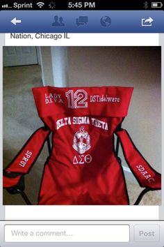 Delta Sigma Theta chair Sorority Pictures, Delta Sigma Theta Gifts, Delta Girl, Sorority Life, Fraternity, Chicago, Diva, Lady, Greeks