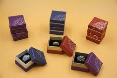 24x Cardboard Jewellery Gift Box Ring Earring Wedding Earring 5x5x3.5cm 3 Colour