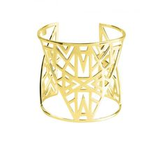 Vélizance Golden Aztec Sterling Silver Lunea Arm Cuff ($470) ❤ liked on Polyvore featuring jewelry, bracelets, accessories, arm cuffs, bijoux, golden, golden bangles, boho bangles, aztec jewelry and sterling silver jewelry